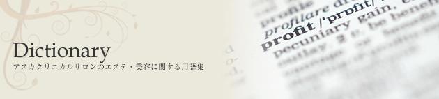 Dictionary   美容用語の最近のブログ記事